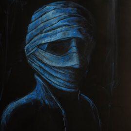 Bandagiert in Blau (75cm x 55cm)