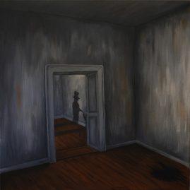 Besuch aus dem Kellerloch (60cm x 60cm)
