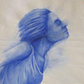 Blaustelle (98cm x 70cm)