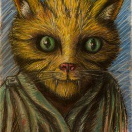 Portrait einer Katze (63cm x 48cm)