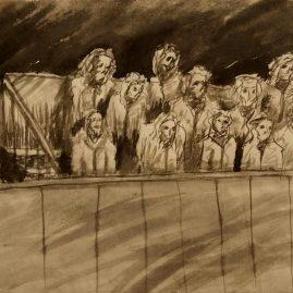 The Audience (52cm x 32cm)