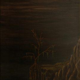 Fels mit Baum (60cm x 40cm)